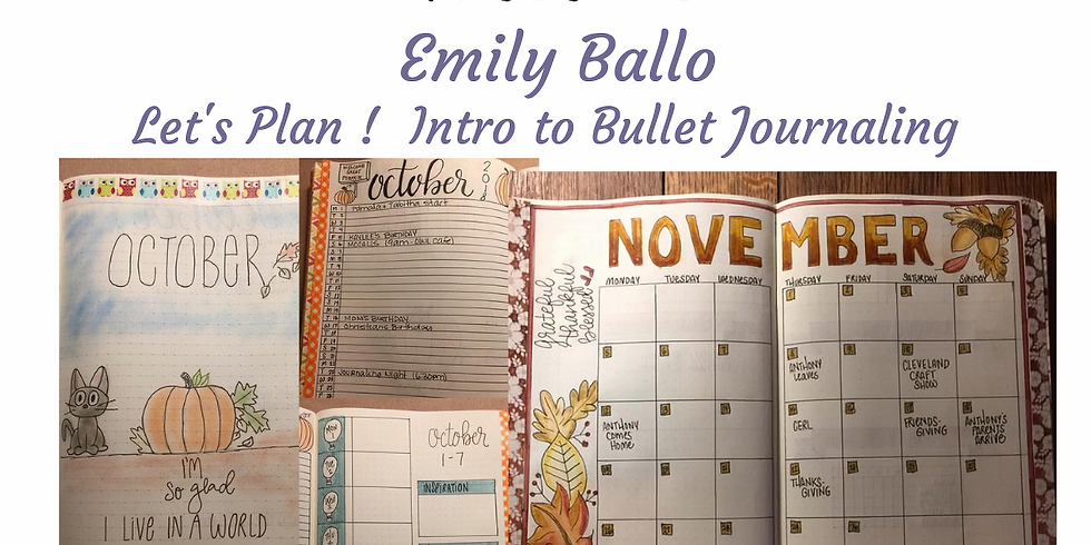 Let's Plan! Intro to Bullet Journeling