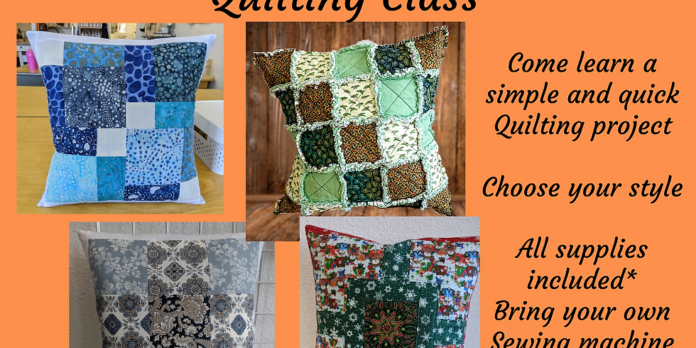 Pillow Day - Quilting Project