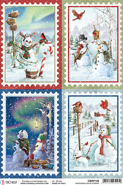 Ciao Bella Rice Paper A4 - Northern Lights Stamps, CBRP129