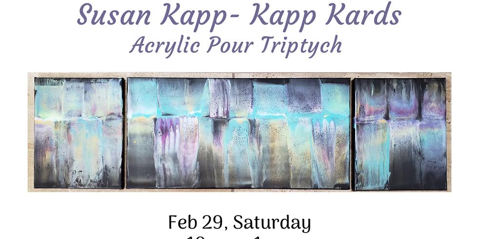 Acrylic Pour Triptych