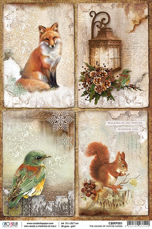 Ciao Bella Rice Paper A4 The Sound of Winter Cards CBRP081