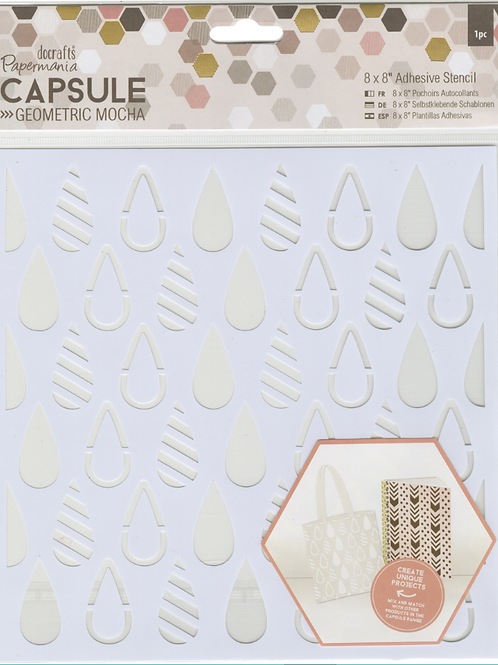 Papermania Stencil - Geometric Teardrops, PM503277