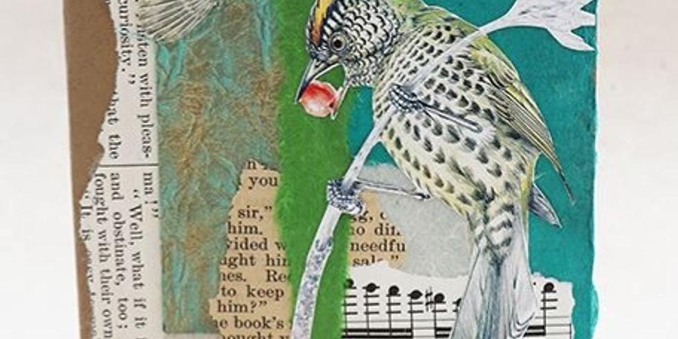 Collaged Bird Cards