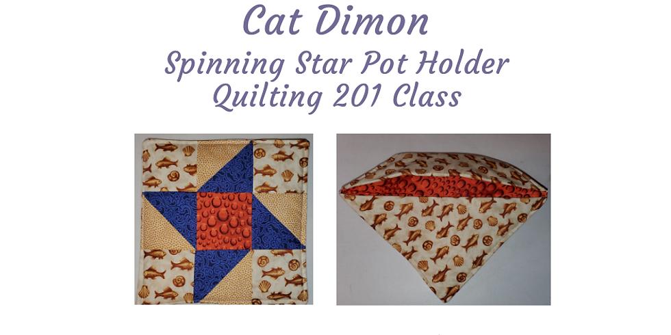 Spinning Star Pot Holder (A Quilting 201 Class)