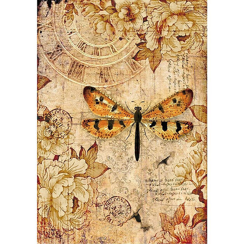 Stamperia A4 Decoupage Rice Paper - Dragonfly, DFSA4239