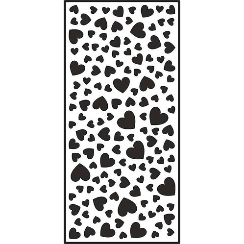 Creative Expressions - Slimline Stencils Floating Hearts, CEST035