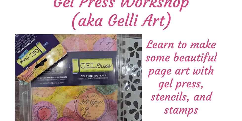 Gel Press Art Workshop