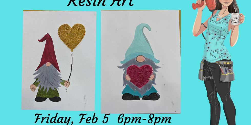 Gnome Valentine - Resin Art