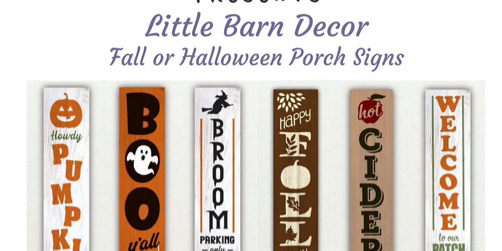 Front Porch Halloween Signs (Evening Offering)