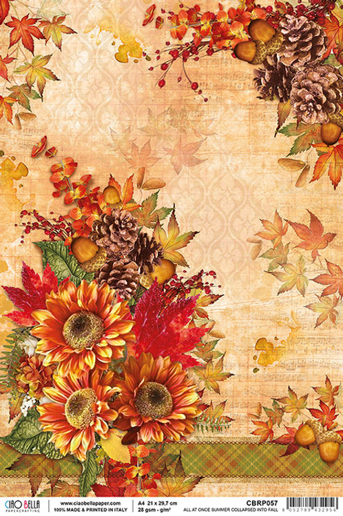 Ciao Bella A4 Rice Paper - All at once Summer collapsed into Fall CBRP057