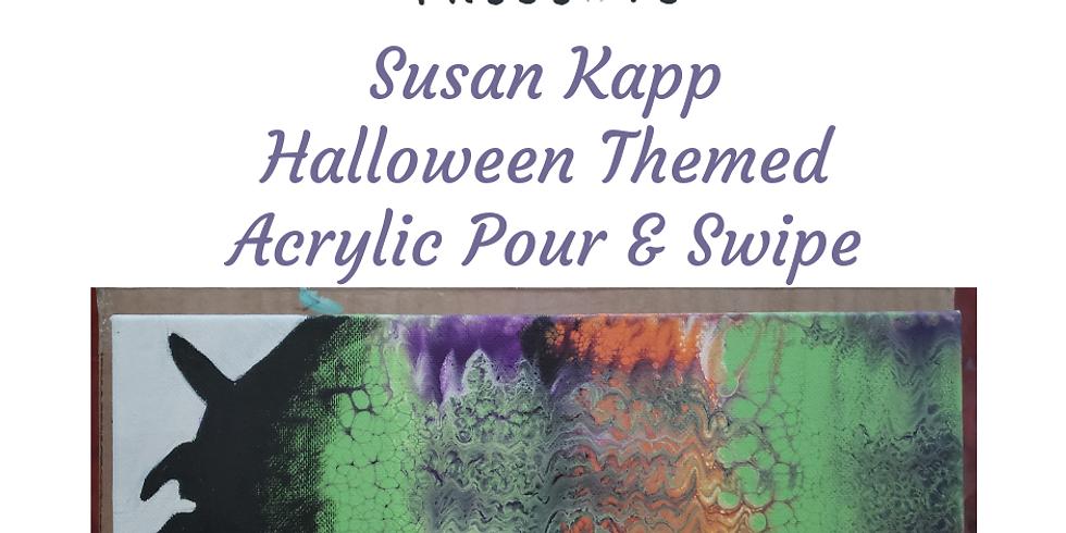 Halloween Themed Acrylic Pour & Swipe