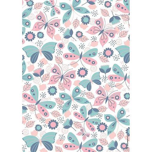 Stamperia A4 Decoupage Rice Paper - Johanna Rivero Butterfly, DFSA4460
