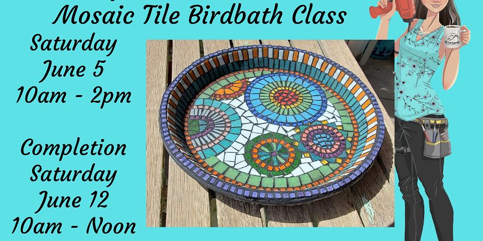 Mosaic Birdbath Class