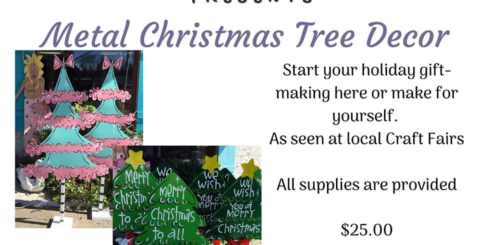 Christmas Tree Metal Decor