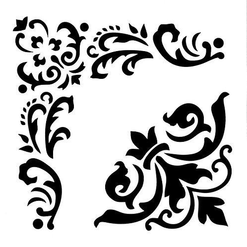 Posh Chalk Stencil - Woodubends