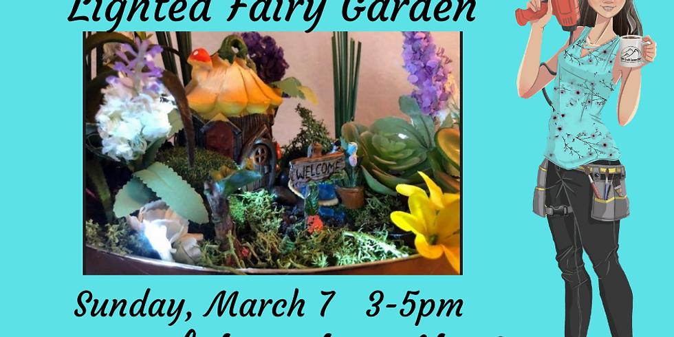 Lighted Fairy Garden