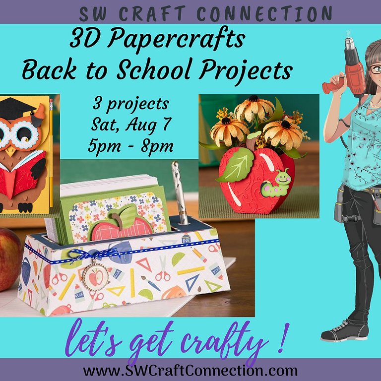 3D Paper Connection - Back to School Set