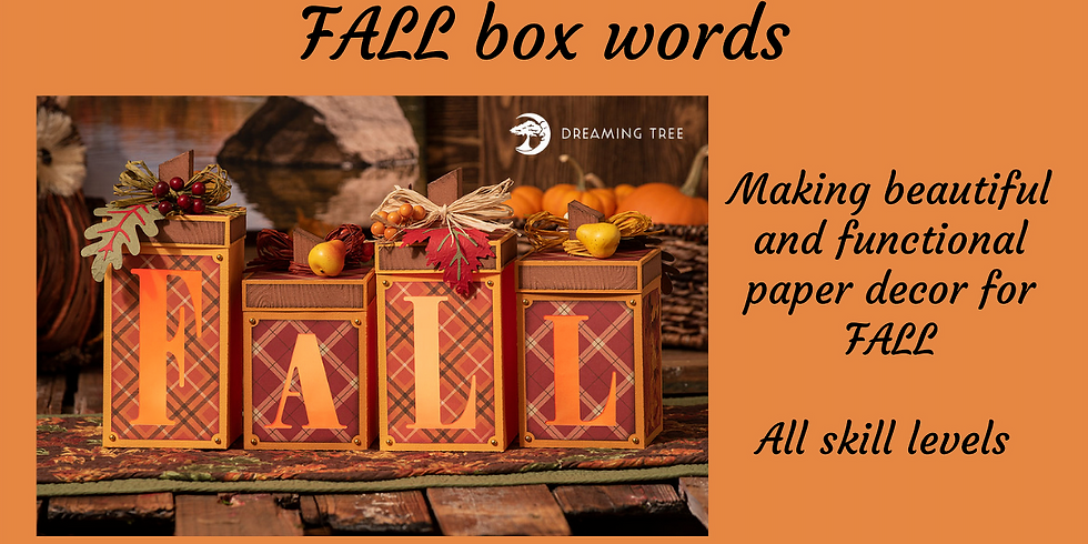 3D Paper Connection - FALL box Words (light up)