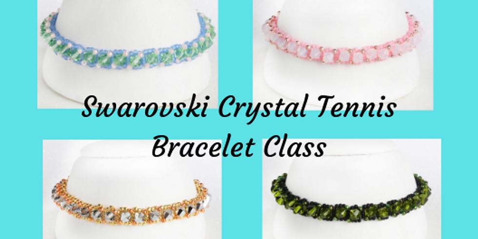 Swarovski Crystal Beaded Tennis Bracelet