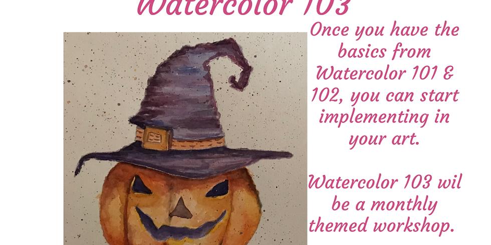 Jack-O-Lantern - Watercolor 103 Class