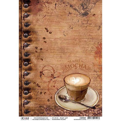 Ciao Bella Rice Paper A4 Buongiorno Caffe! CBRP007
