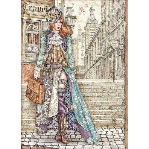 Stamperia A4 Decoupage Rice Paper - Sir Vagabond Lady Vagabond, DFSA4518