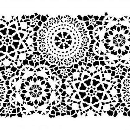 Posh Chalk Stencil - Hippy Lace small (13.7 X 19.2 inches)