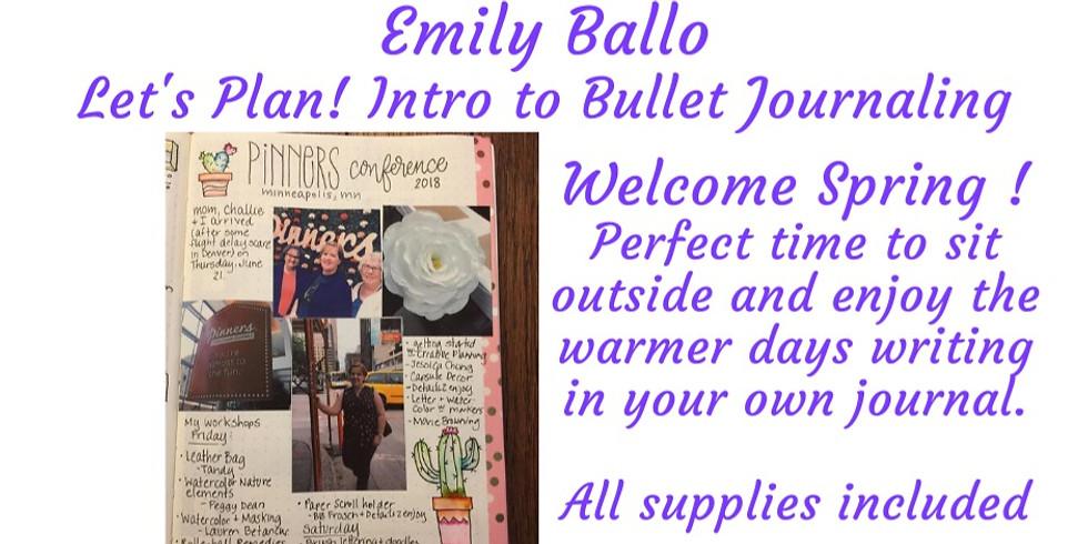 Let's Plan! Intro to Bullet Journaling