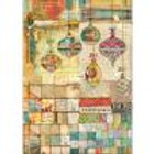 Stamperia A3 Decoupage Rice Paper - Holiday Patchwork Balls DFSA3042