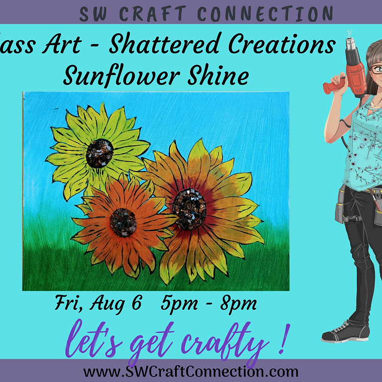 Glass Art - Shattered Creations - Sunflower Shine