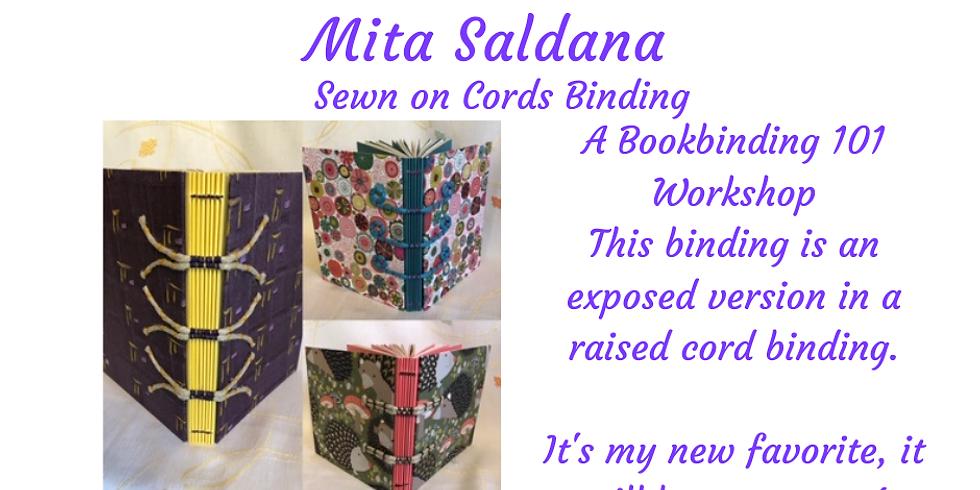 Bookbinding 101 Class - Sewn on Cords Binding
