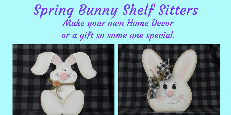 Spring Bunny Shelf Sitters