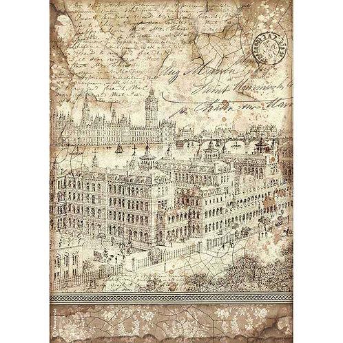 Stamperia A4 Decoupage Rice Paper - London, DFSA4523