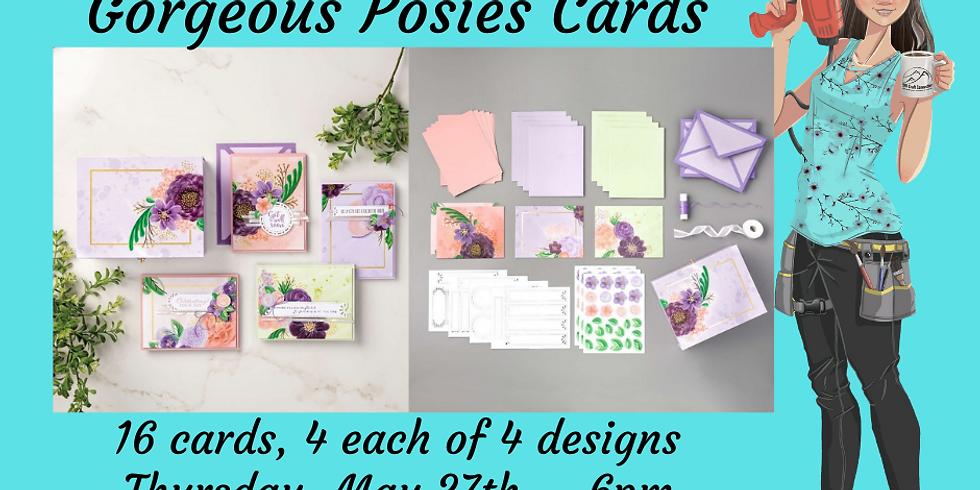Gorgeous Posies Card Class