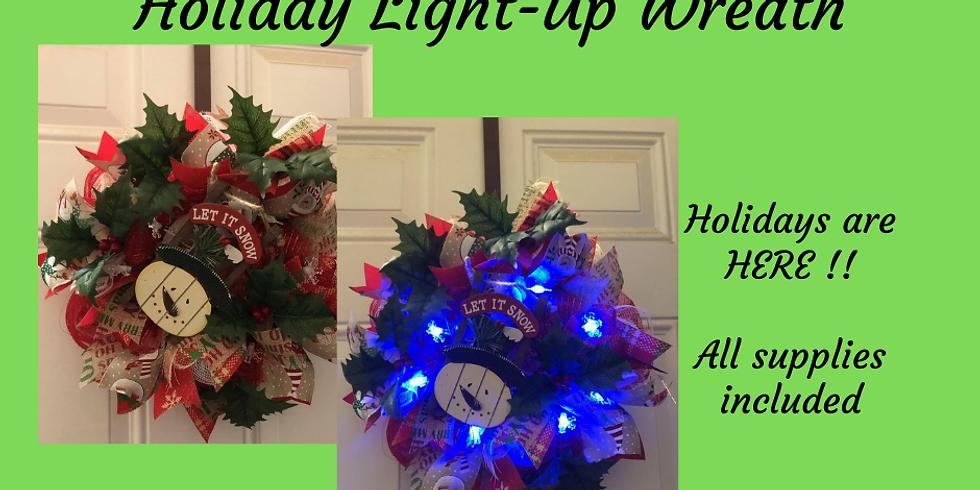 Holiday Light-Up Door Wreath