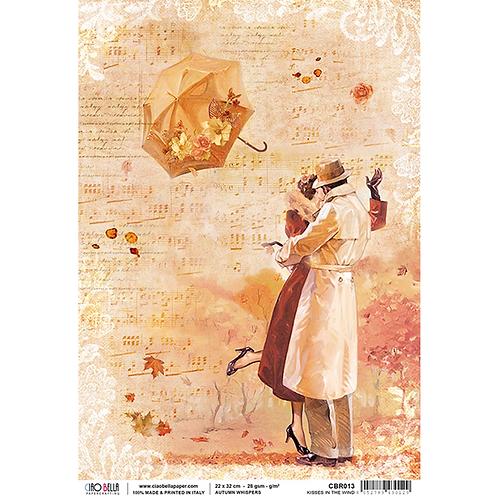 Ciao Bella A4 Rice Paper -Kisses in the Wind CBRP013