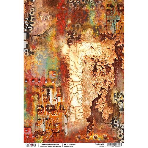 Ciao Bella Rice Paper Sheet A4 - Collateral Rust - Oxido, CBRP073CBRP073