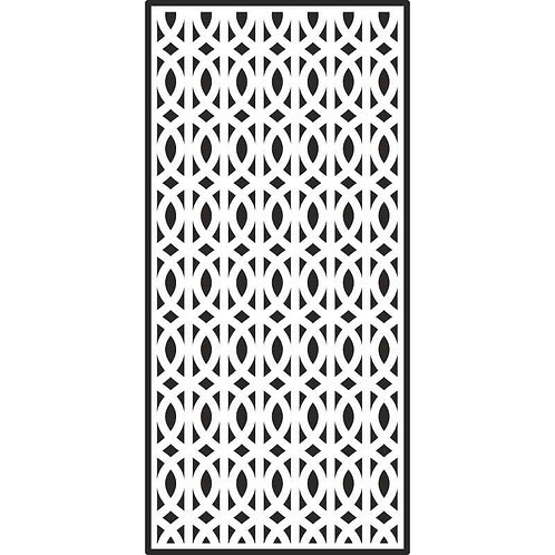 Creative Expressions - Slimline Stencils Lattice Swirls, CEST036