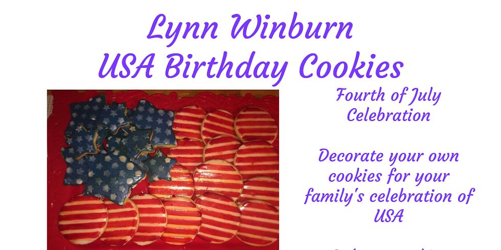 USA Birthday Cookies