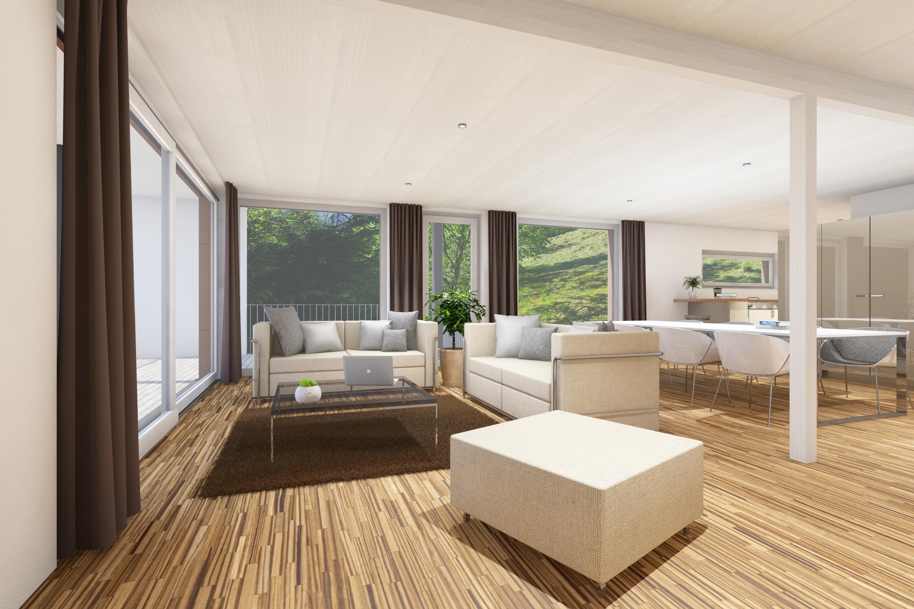 Wohnraum mit Hintergrund