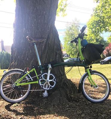Emi's Green S6L Brompton in Portland, OR