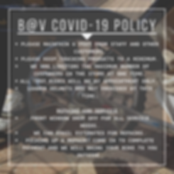 Blurred COVID POLICY image
