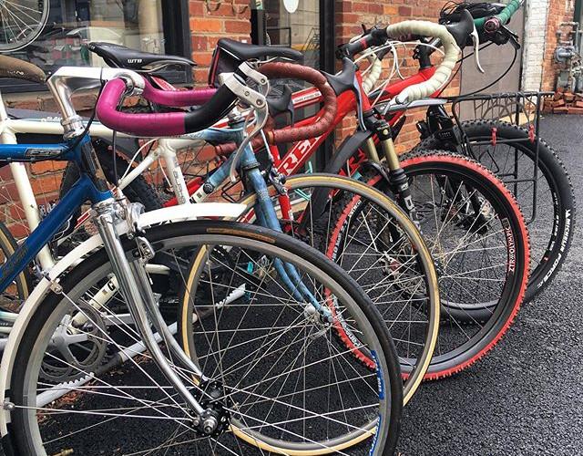4 of Emi's bikes