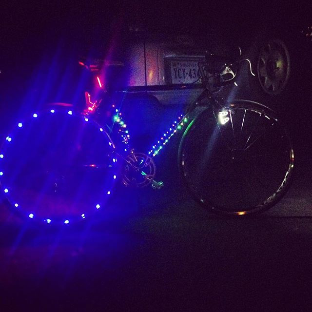 Emi's Lotus Excelle w/ christmas lights