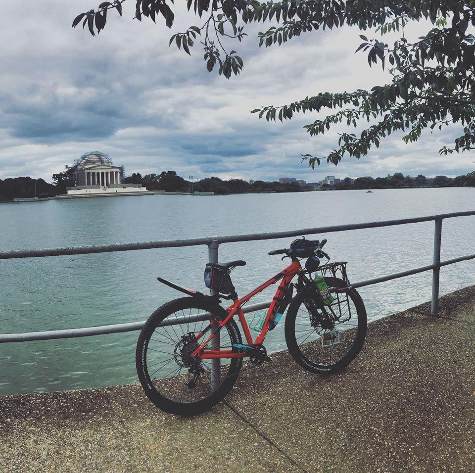 Emi's custom 2017 Trek Marlin 4 bikepacking rig