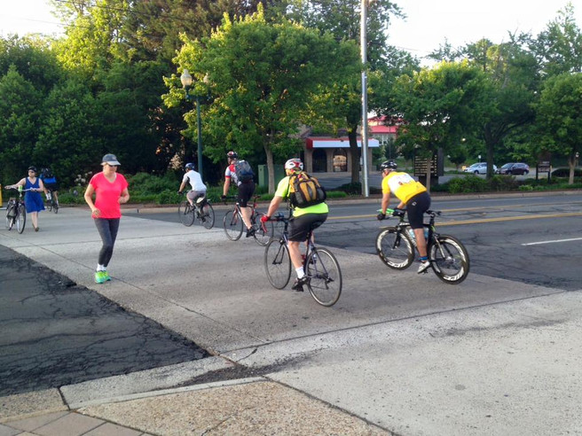 Bike to Work Day at Maple Ave.