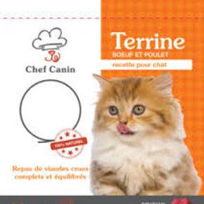 Terrine pour chat Boeuf et Poulet