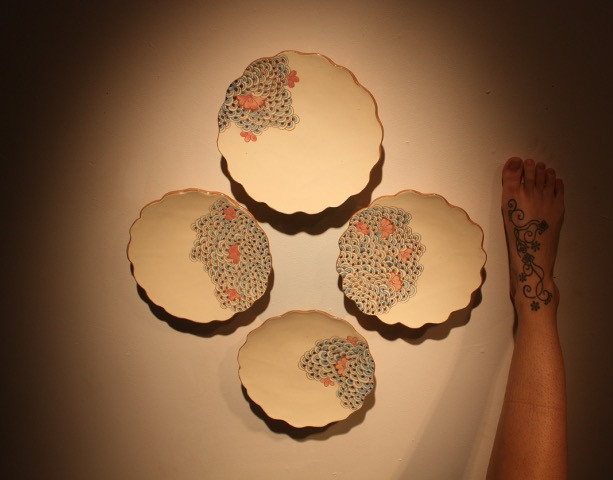 Plate set: Interactions of Adornment, 2013