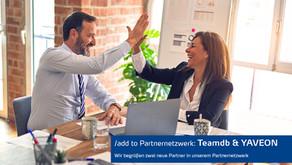 Zwei neue Vertriebspartner: Teamdb & YAVEON