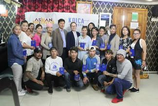 몽골 바가노르 미용직업훈련학교 3기의 수료식이 진행되었습니다.
